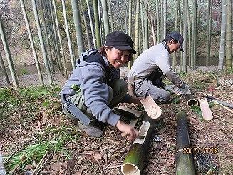 大多喜町湯倉の竹林の整備体験